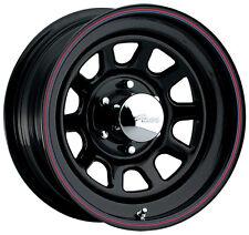 "4-NEW Pacer 342B Black Daytona 16x7 5x114.3/5x4.5"" +0mm Black Wheels Rims"