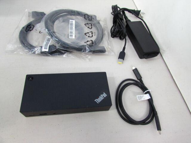 ThinkPad USB-C Dock, 40A9, 90W Lenovo AC Adapter,USB-C Cable,2xDisplayPort Cable
