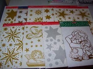 Fensterbilder-Fenstersticker-Weihnachten-Sterne-Engel-Nikolaus