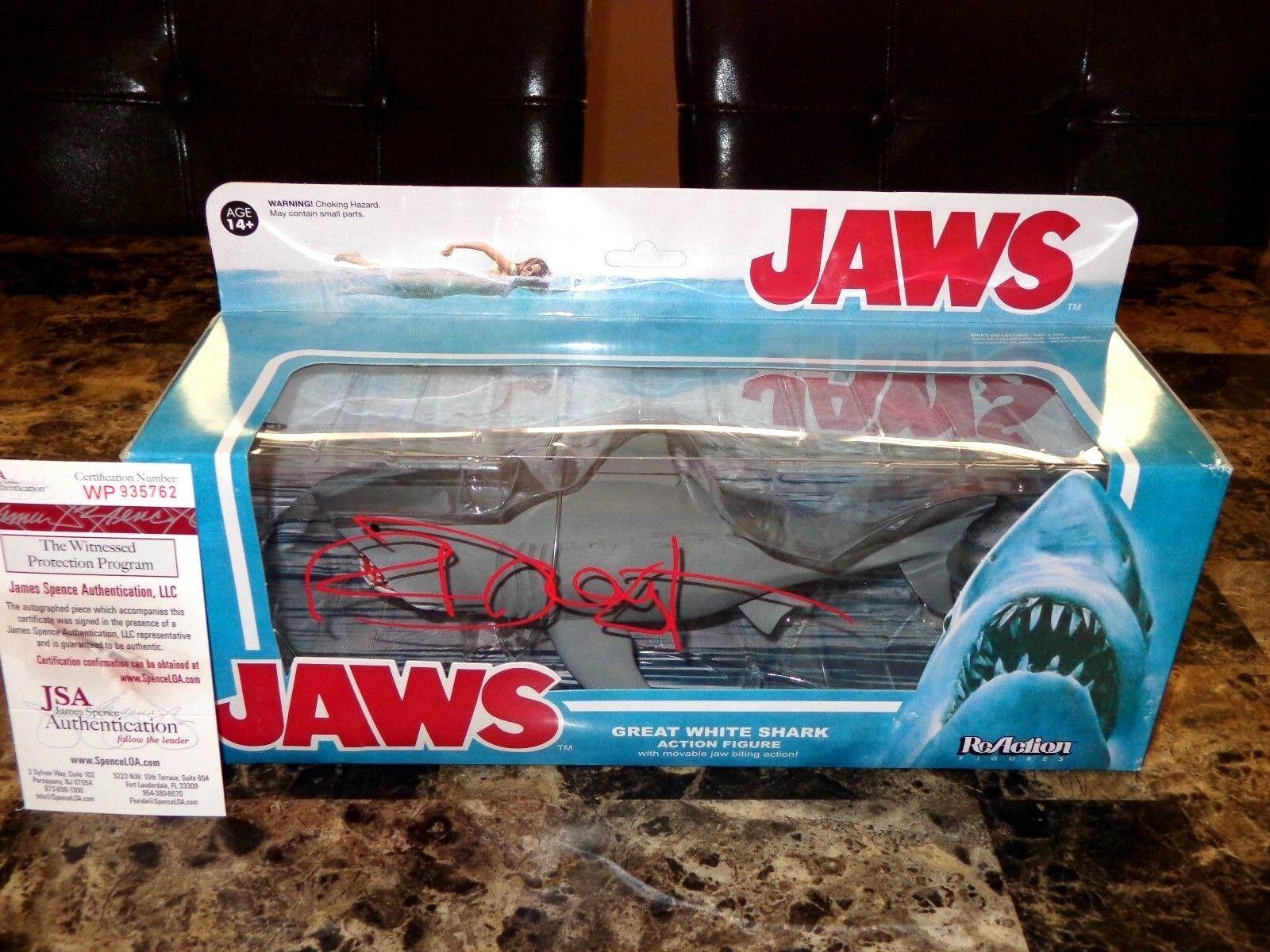 Jaws Rare Richard Dreyfuss Signed Movie Prop Shark ReAction Action Figure + COA