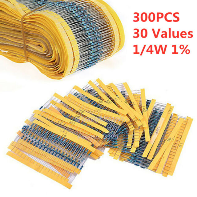 860Pcs 1//4 Watt Resistor 86 Kinds Of Different Resistance E-12 Series Assortment