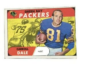 1968 Topps Football Carroll Dale Green Bay Packers Card # 27
