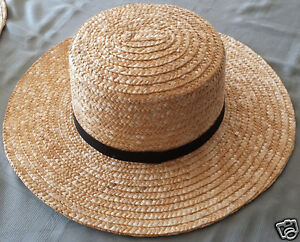Exact-Replica-Amish-Straw-Hats-Size-Child-039-s-through-XXL
