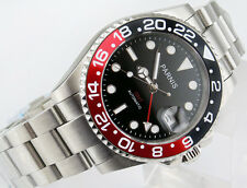 Parnis 40mm GMT Ceramic Bezel sapphire automatic mens watch 1543