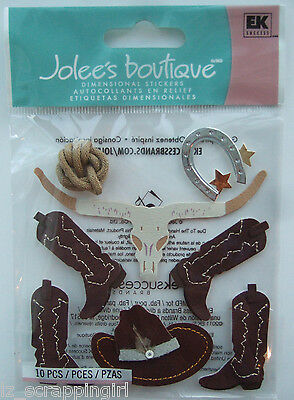 ~WILD WEST~ Jolee's Boutique Dimensional Stickers; Western Cowboy, Boots, Ranch
