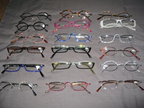 Swarovski Crystal Jeweled Reading Glasses +1.00 Oval Bling Frames NEW!