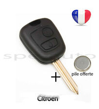 plip coque clé Citroen Xsara Saxo Picasso Berlingo 2 boutons + pile