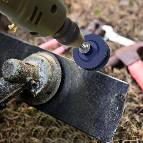 Rotary Lawn Mower Sharpener Lawnmower Blade Sharpening Tool For Power Drill 50mm