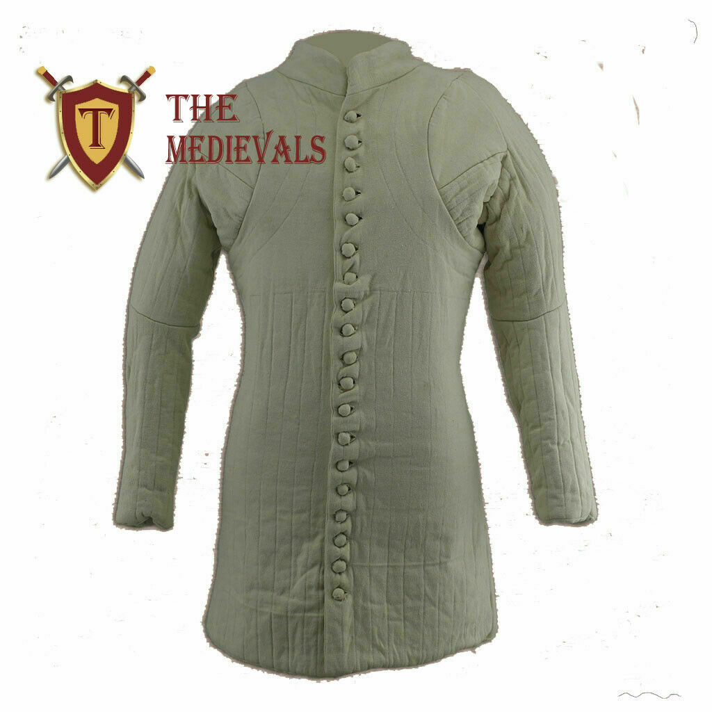 Medieval knight armor for theater sca armor larp Gambeson Aketon costumes Jacket