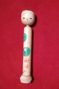 Rare old kokeshi japan compartment with secret message superb condition