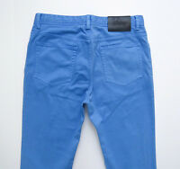 $600 Brioni Slim Fit Light Blue Color Brushed Cotton Jeans Pants 40 Us 56 Euro