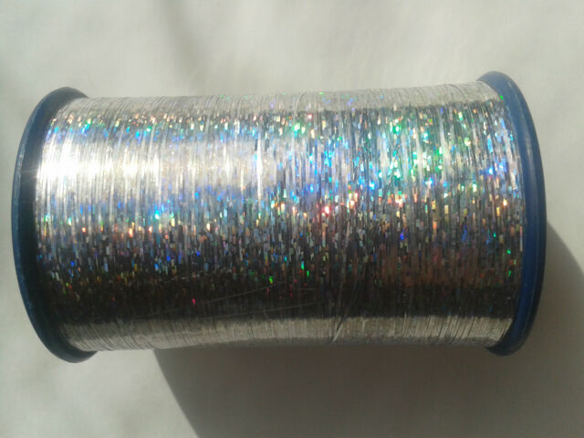2 Spools of Holographic LUREX High Quality Thread 3000 Mtrs each Gold//Silver