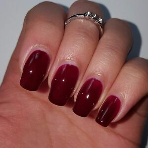 Image Is Loading Dark Red Wine Shiny Nail Polish 15ml In
