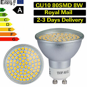 LED-Ampoule-LED-8W-GU10-80SMD-3528-Blanc-Chaud-Froid-Lampe-downlight-lumiere-DEL