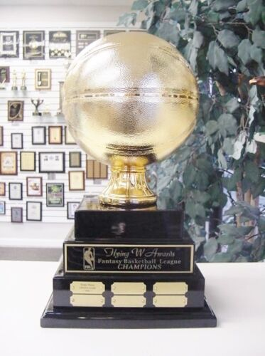 3 TIER LARGE FANTASY BASKETBALL PERPETUAL AWARD 38 YEARS TOP OF THE LINE GOLD