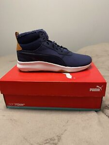 Puma-softfoam-ST-activer-Mid-WTR-Homme-Bleu-Baskets-Sneakers-Taille-UK9