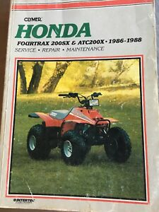 1986-1988-Honda-Fourtrax-200Sx-Repair-Manual-Clymer-M347-Service-Shop-Garage