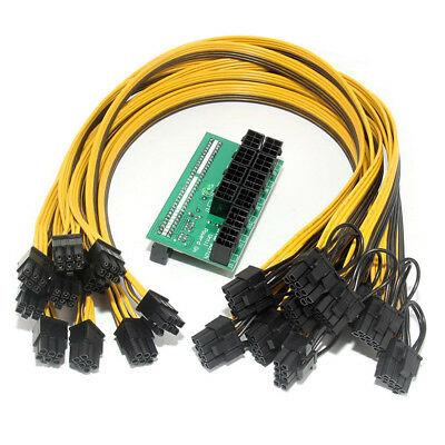 10x PCI-E Power Cable 6P to8P For DPS-1200FB Ethereum Mining Breakout Board