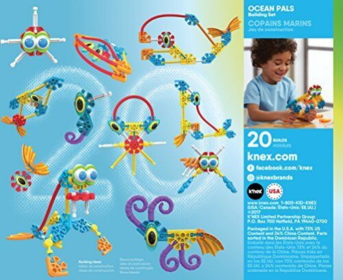 Kid K'NEX Ocean Pals Building Set for Ages 3 and Up Preschool Educational Toy,