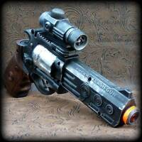 Steampunk cyber gothic gun revolver pistol Victorian laser LIGHT pirate Toy MC02