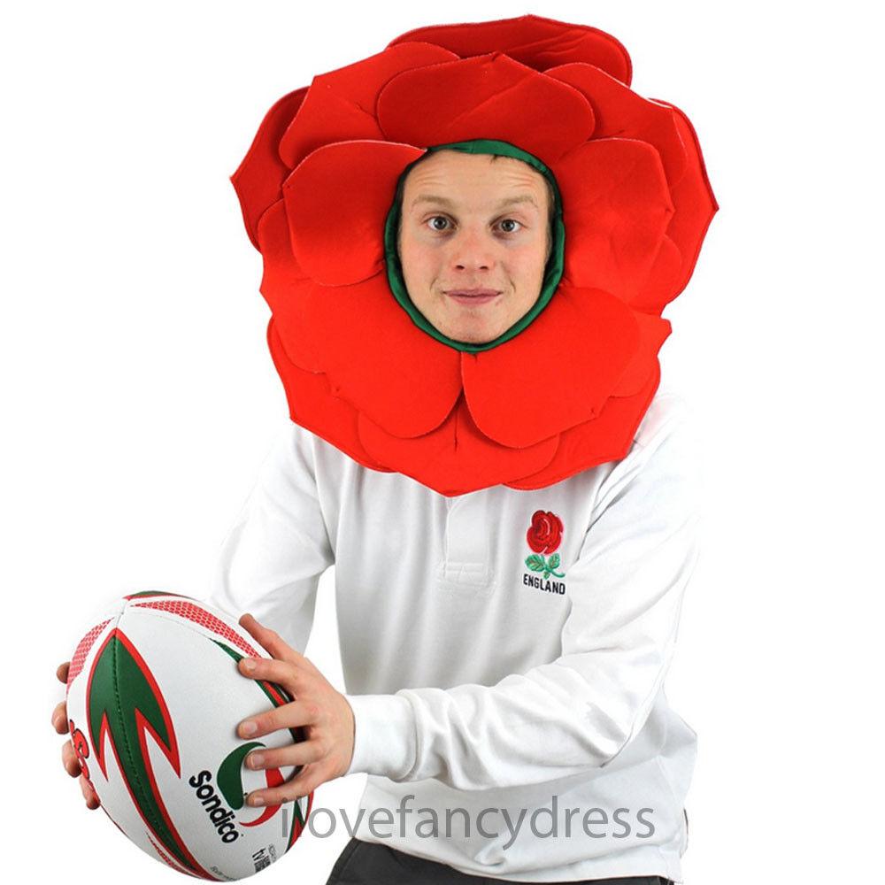 Acheter Pas Cher Rose Hat English Rose Robe Fantaisie Angleterre Sport Partisans Fleur Rouge Chapeau De Rugby Produits Vente Chaude