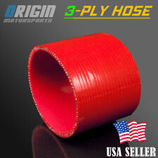 89mm 3 1/2″ STRAIGHT COUPLER SILICONE HOSE TURBO INTAKE INTERCOOLER PIPE RED