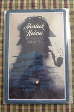 Sherlock Holmes Tin Metal Sign Painted Poster Comics Book Superhero Wall Decor