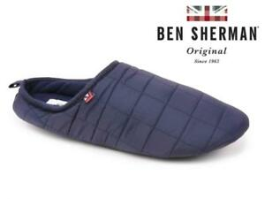 Mens Quilted Slippers Mules Ben Sherman Soft Warm Faux Fur Winter ... 8b6a287fe