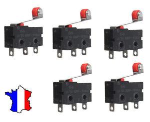 5 x  Fin de course 5A 125v à galet  - micro switch arduino projet