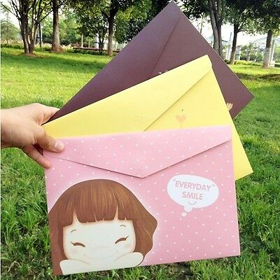 """Cookie Girl"" File Folder Pack of 3 Cute Kawaii Girls Study Document Organizer"