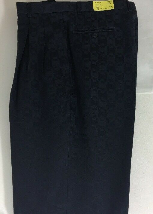 NWT FALCONE PLEATED 100% POLYESTER SUMMER NAVY blueE PANTS MEN'S SIZE 40