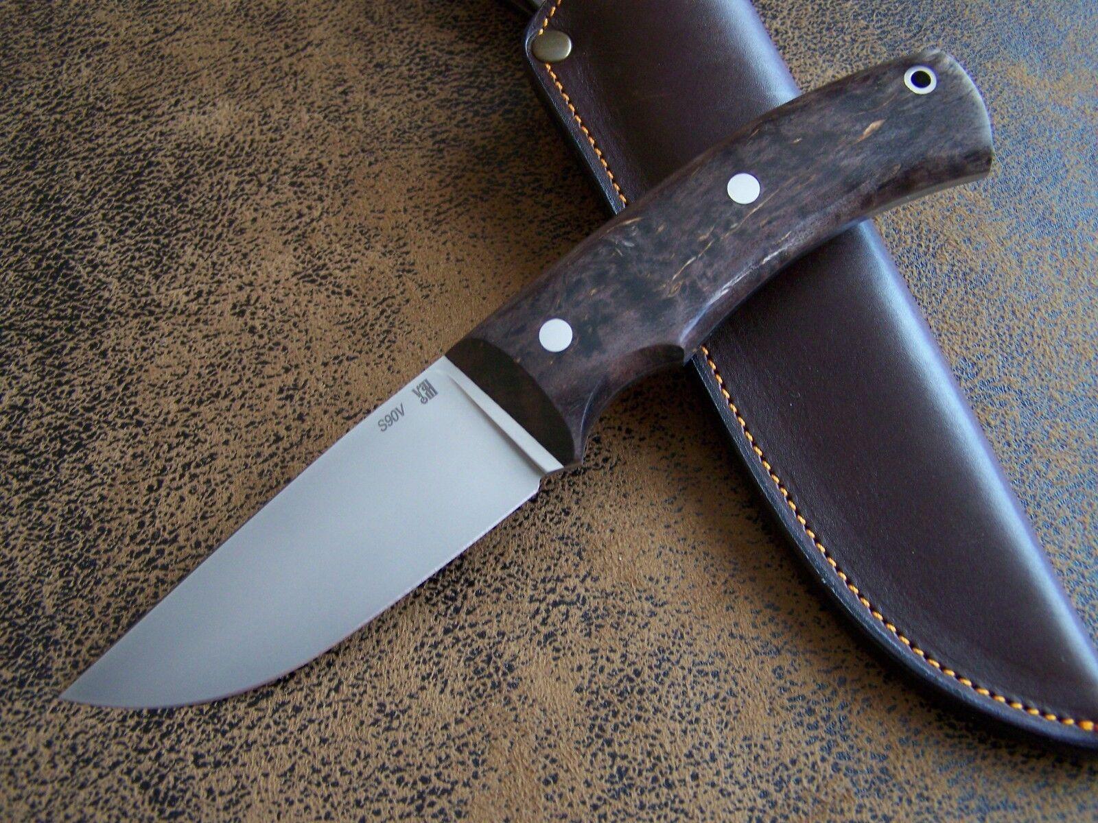 D. Uldanov Exklusives Custom Messer Outdoor / S90V Jagdmesser CPM S90V / Stahl 62-HRC 2b5843