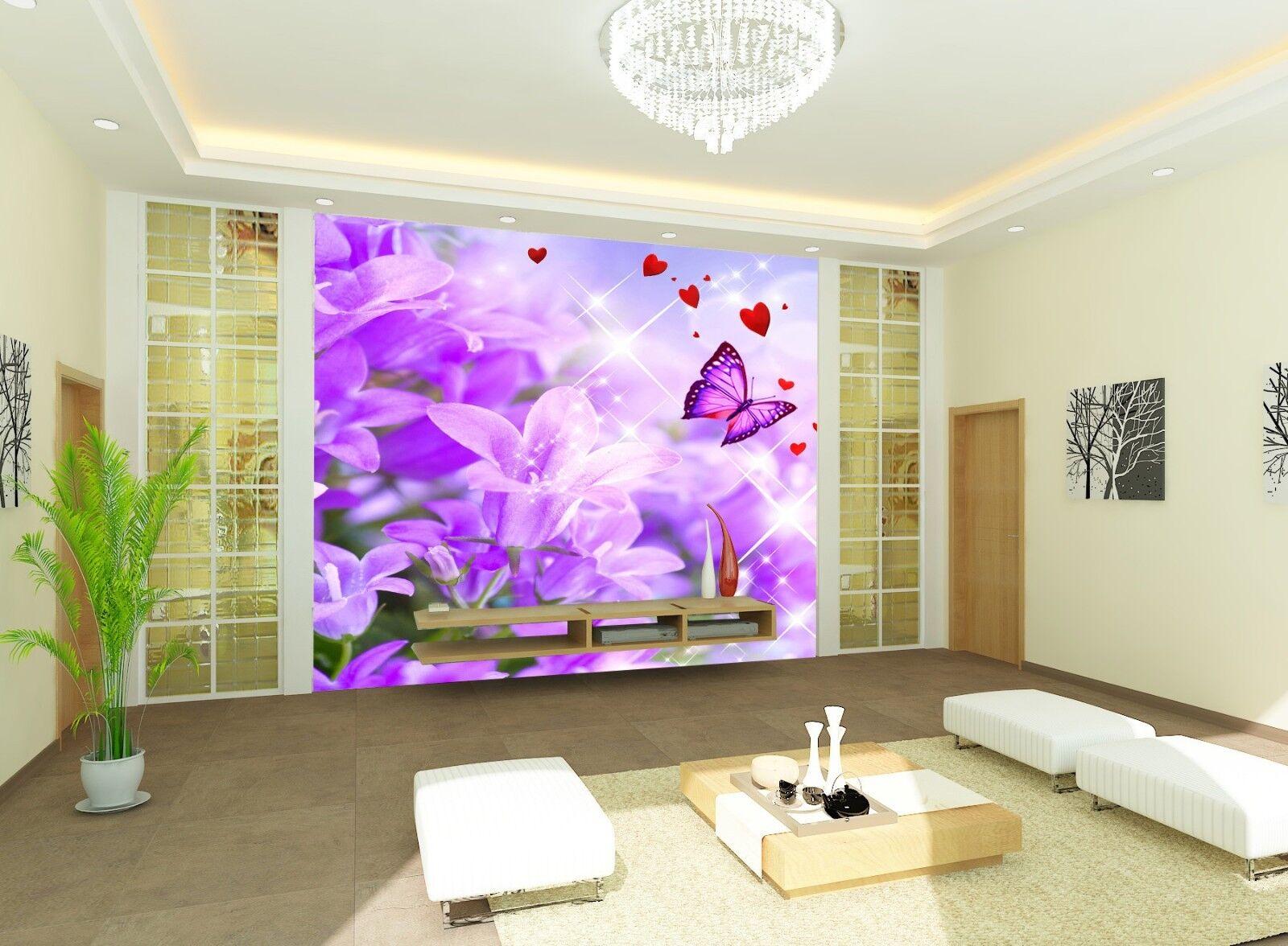 3D Blaumen Schmetterling 8993 Tapete Wandgemälde Tapeten Bild Familie DE Jenny | Stil  | Good Design  | Verpackungsvielfalt