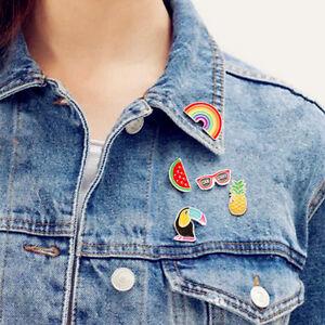 Women Cartoon Brooch Corsage Set Acrylic Collar Pin Badge Lovely Jewellery