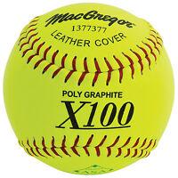 Macgregor X52re Asa Slow Pitch 12 Softball - Leather (1 Dozen) on sale