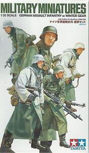 TAMIYA-GERMAN-WWII-ASSAULT-INFANTRY-W-WINTER-GEAR-Scala-1-35-Cod-35256
