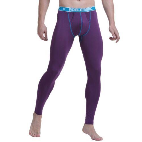 Mens Long Johns Bottom Thin Slim Warm Leggings Winter Thermal Underwear Comfy