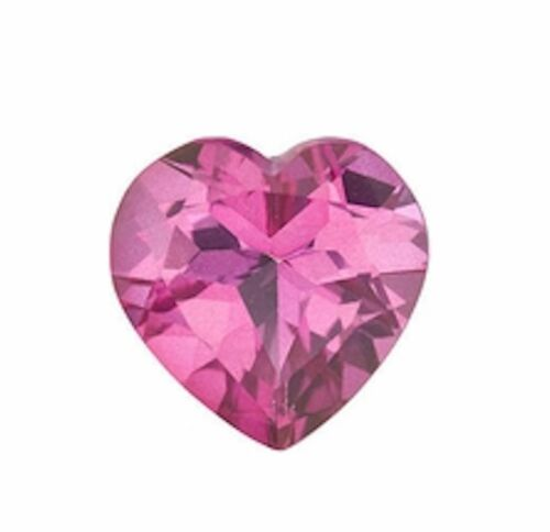 Natural Pink Topaz Heart Faceted Loose Gemstones 5x5mm - 16x16mm