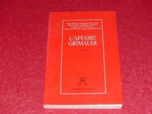 BIBL-H-amp-P-J-OSWALD-MARTIN-WINCKLER-amp-c-L-039-AFFAIRE-GRIMAUDI-EO-1995-Signe