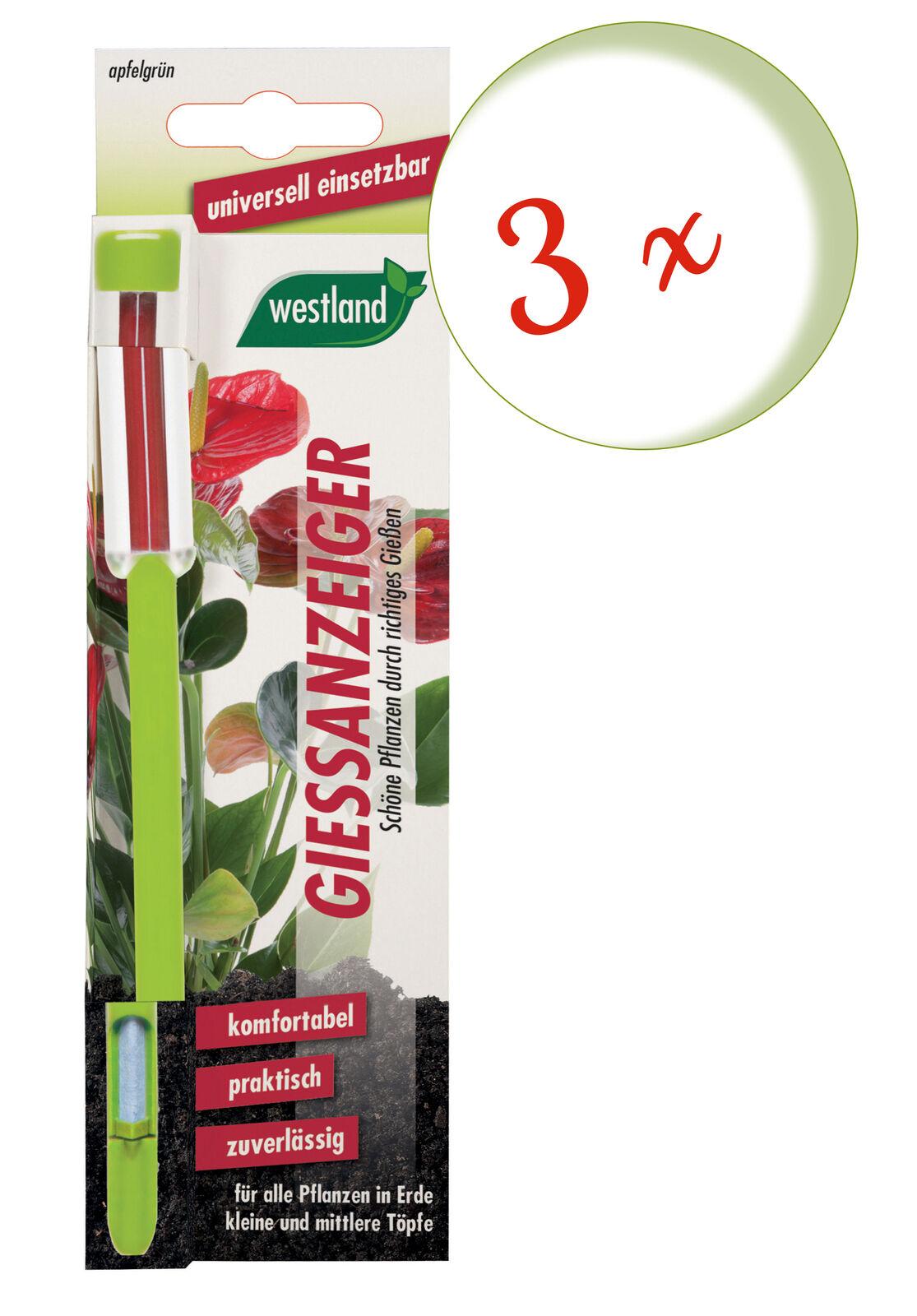 Savings Set: 3 X Westland Indicator For Flower Soil, 16 CM Apple Green