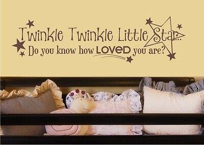 Twinkle Little Star Wall Decal - Vinyl Wall Word Sticker Art