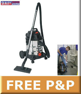 Sealey-20ltr-240v-Wet-amp-Dry-Industrial-Vacuum-Vac-Cleaner-Accessories-PC200SD