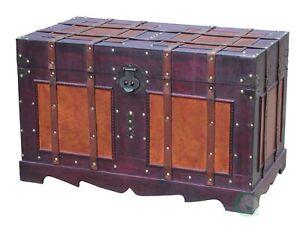 New Large Antique Style Steamer Trunk, Decorative Storage Box, QI003318L