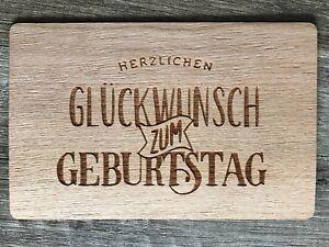 Details Zu Grußkarte Aus Holz Geschenk Karte Herzlichen Glückwunsch Zum Geburtstag Banner