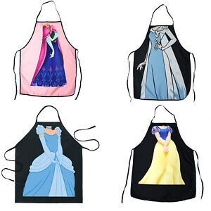 Details about Set of 4 Princess Style Cooking Kitchen Apron Cinderella Anna  Elsa Snow White