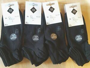 VALEUR-15-60-TEX-Taille-35-37-NEUF-Lot-12-paires-de-chaussettes-noires-femme