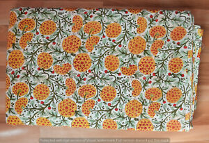Indian-Cotton-Hand-Block-Print-Fabric-Flower-Running-Sewing-Craft-Women-Clothing