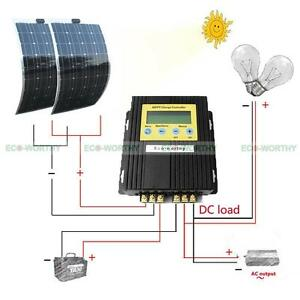 200w Mono Flexible Solar Panel Kit W 20a Mppt Controller