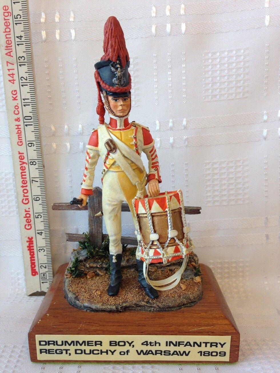 DRUMMER BOY 4th INFANTRY REGT DUCHY OF WARSAW - 1809. 125mm Die-Cast Figure.