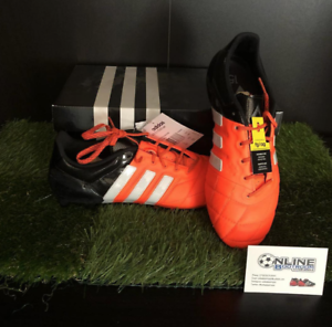 Adidas ACE 15.1 FG AG Cuero-Solar Naranja blancooo Negro 7.5, US8, EU 41 (1 3)
